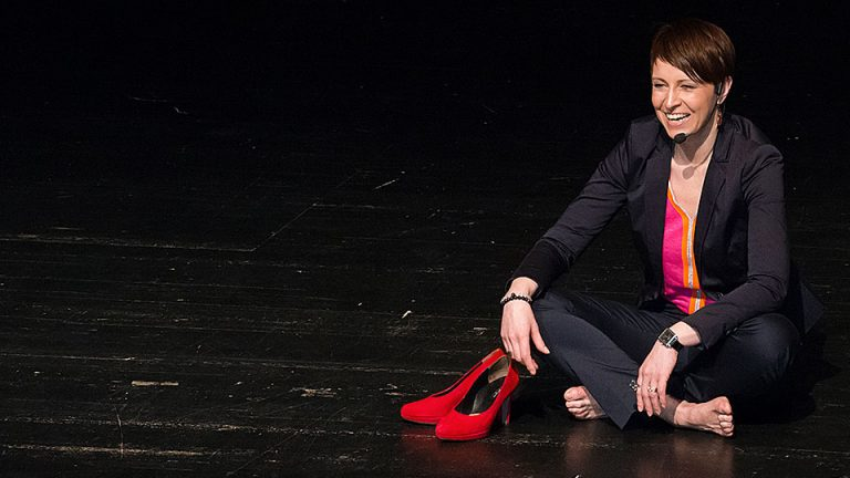Alexandra Bilko-Pflaugner auf der Bühne